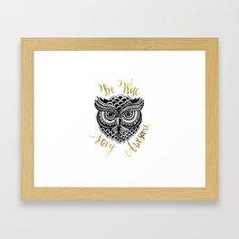 Owlsome Framed Art Print
