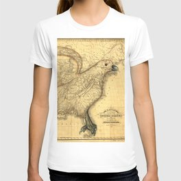 The eagle map of the United States, 1832 T-shirt