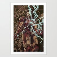 ironman Art Prints featuring Ironman by Beth Sparks