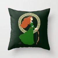 merida Throw Pillows featuring Merida  by Cantabile