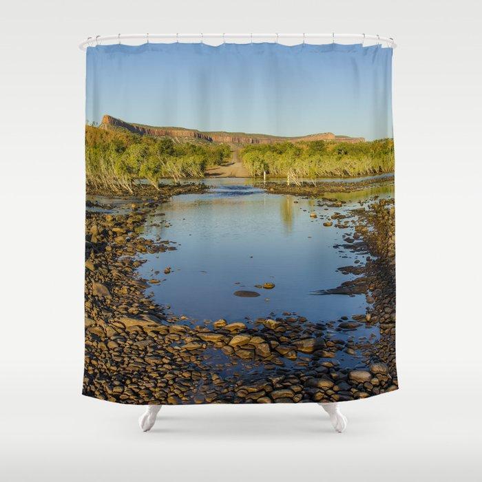 Pentecost River Crossing Shower Curtain