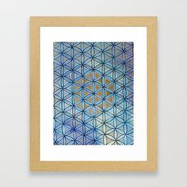 Amethyst Ocean Flower of Life Mandala Framed Art Print