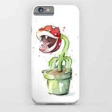 Piranha Plant Art Nintendo Mario Videogame Geek Gaming iPhone 6s Slim Case