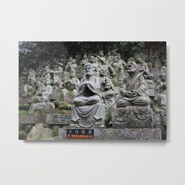 Stone Monks at the Nanzoin Temple Metal Print