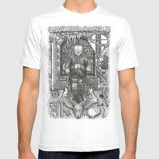 Benjamin FrankLION White SMALL Mens Fitted Tee