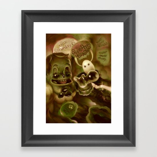 Super Happy Jelly Show Framed Art Print