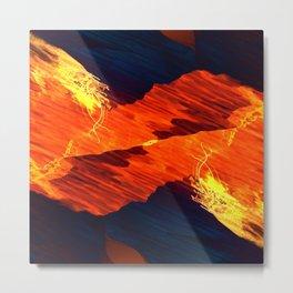 Spiral Fire Metal Print