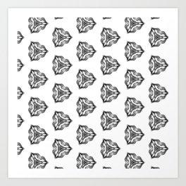 pencil pattern drawing Art Print