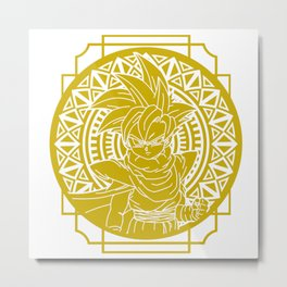 Stained Glass - Dragonball - Young Gohan Metal Print