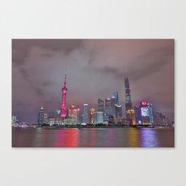 Looking towards Shanghai Canvas Print