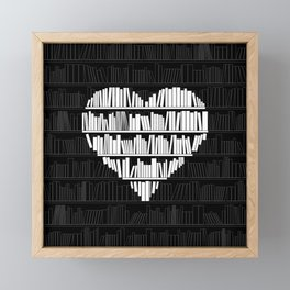 Book Lover Framed Mini Art Print