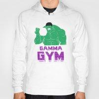 gym Hoodies featuring gamma gym by Louis Roskosch