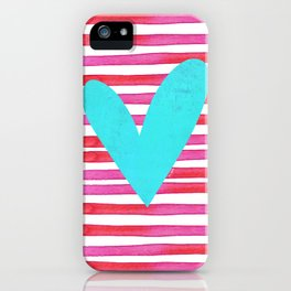 Soulmates Lines and Hearts iPhone Case