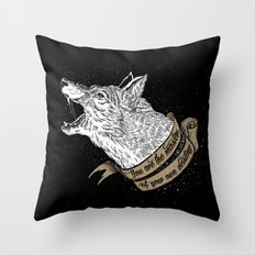 Wolf Protector (Black n Bronze collection) Throw Pillow