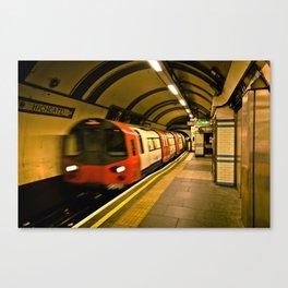 Blurry Train Canvas Print