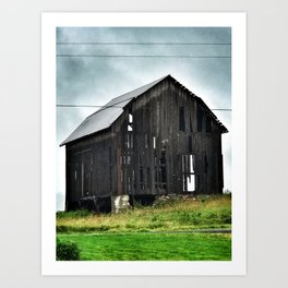 East Cayuga Lake Barn Art Print