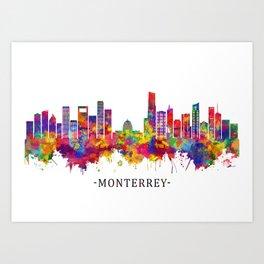 Monterrey Mexico Skyline Art Print
