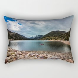 Canoeing with the Clouds Rectangular Pillow