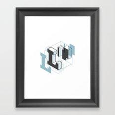 The Exploded Alphabet / L Framed Art Print