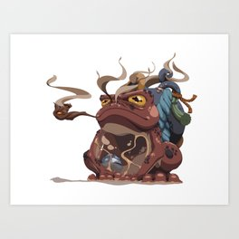 Red Toad Art Print