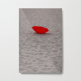 Lost red Umbrella Metal Print
