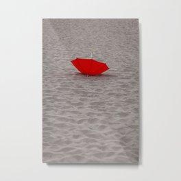 Lost red Umbrella Metal Print