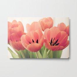 pink tulip bouquet Metal Print