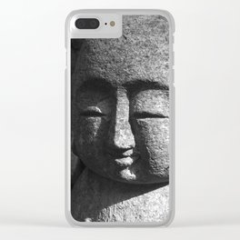 Japanese Temple Statues Clear iPhone Case