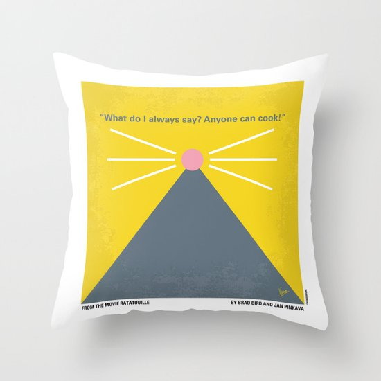No163 My Ratatouille minimal movie poster Throw Pillow