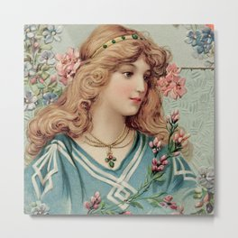 Pretty classical lady Metal Print