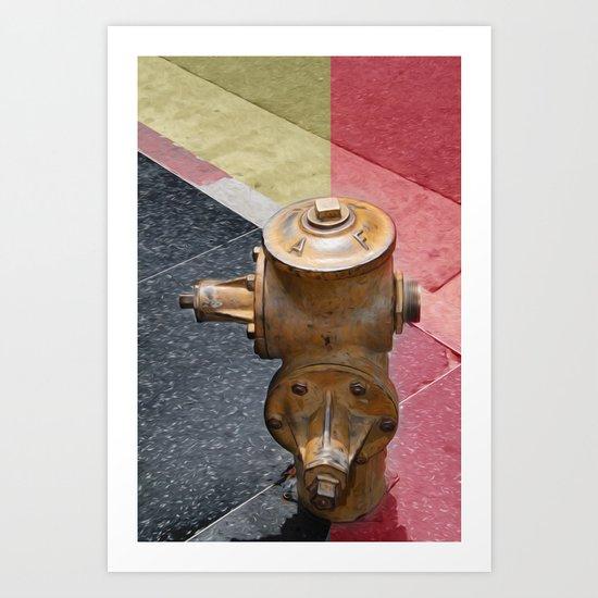Sunset fire hydrant Art Print