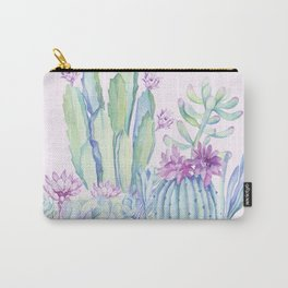 Mixed Cacti Pink #society6 #buyart Carry-All Pouch