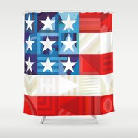 america Shower Curtains featuring America by Fimbis