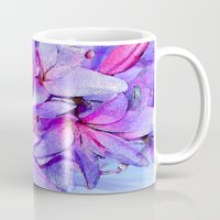 lily Mugs featuring Lily by Saundra Myles