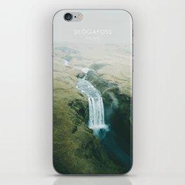Skogafoss Waterfall, Iceland Travel Artwork iPhone Skin