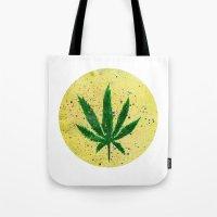 marijuana Tote Bags featuring MARIJUANA by Sha Abdullah
