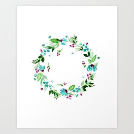 Turquoise and Caicos Art Print