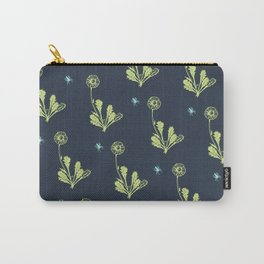 Spider Daisies (green + navy) Carry-All Pouch