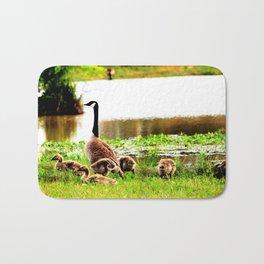 Canada Goose and Goslings Bath Mat