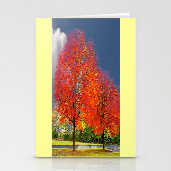 color my trees Stationery Cards