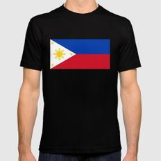 Republic of the Philippines national flag (50% of commission WILL go to help them recover) Mens Fitted Tee MEDIUM Black