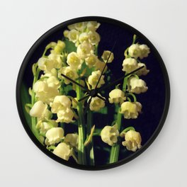 lilly of the valley 4 Wall Clock