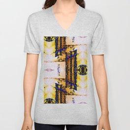 Art Deco Weave Unisex V-Neck