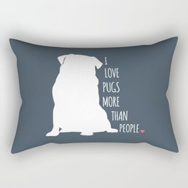 I Love Pugs Rectangular Pillow