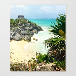 Ruins + Cliffs of Tulum Canvas Print
