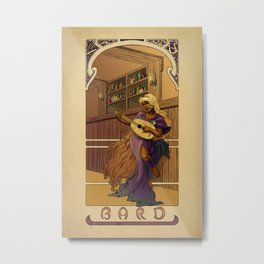 La Barde - The Bard Metal Print