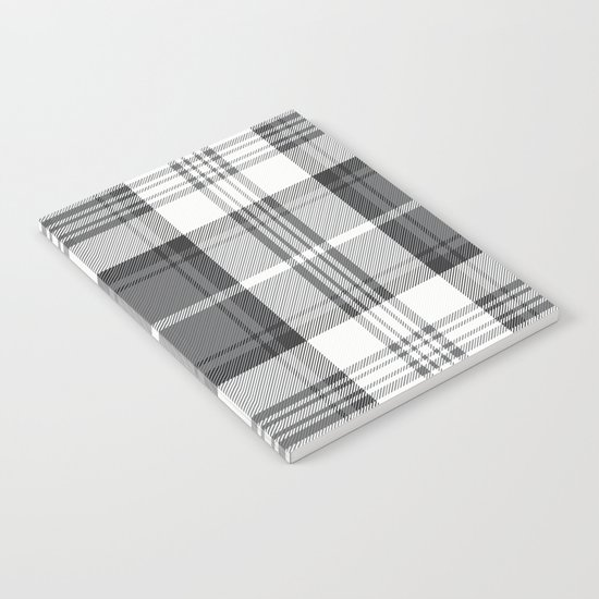 Black & White Tartan Notebook