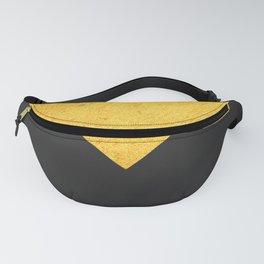 Gold Dark Grey Fanny Pack