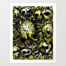 calaveras y diablitos Art Print