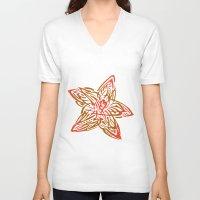 starfish V-neck T-shirts featuring Starfish by SvetIu